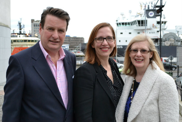 Acquisition: 3x1 co-founders Cameron Grant (left) and Julie McGarvey flank Bread MD Louise Nicolson