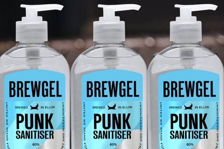 Brewdog is producing hand sanitiser during the pandemic (picture via Twitter)