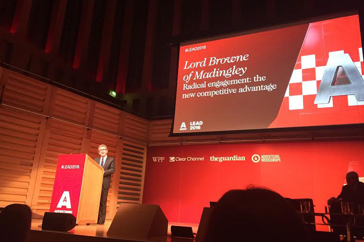 Lord Browne: said CSR was used by some companies as a 'plaything'