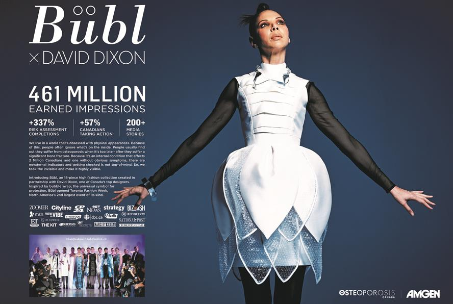 Bubl Fashion by Edelman for Osteoporosis Canada and Amgen Canada