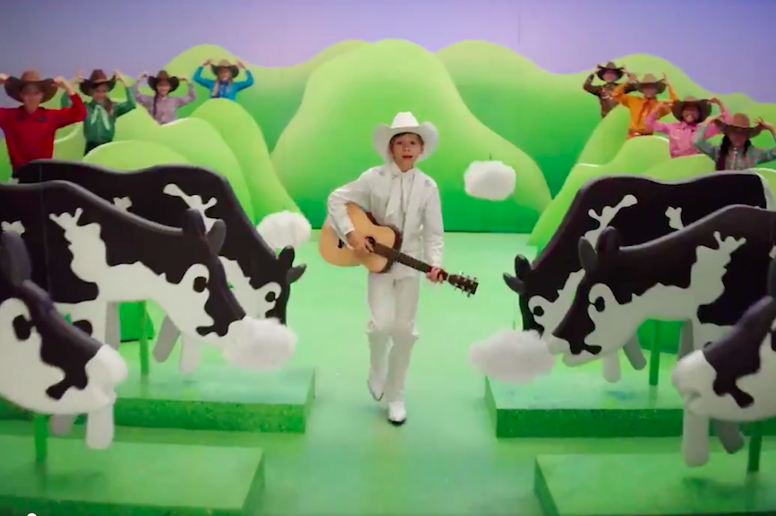 "Screenshot from Burger King's ""Cows Menu"" video."