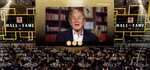 President George W. Bush pays tribute to Karen Hughes at PRWeek's Hall of Fame 2020.