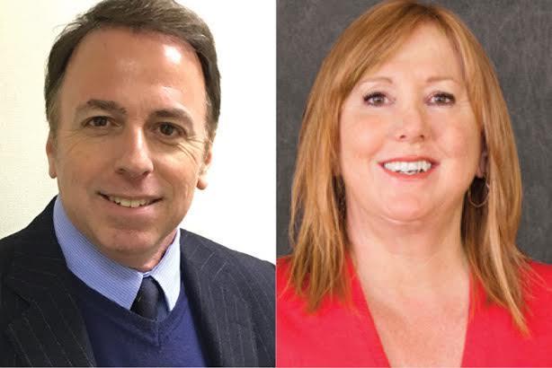 Gerry Casanova (L) and Barbara Bates