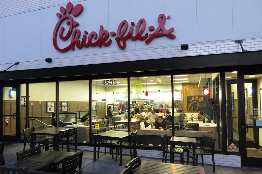 A Chick-fil-A location in Washington, DC. (Photo credit: Getty Images).