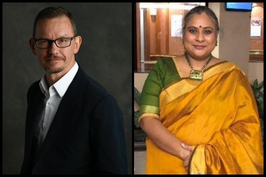 From left: Paul Mottram & Rekha Rao