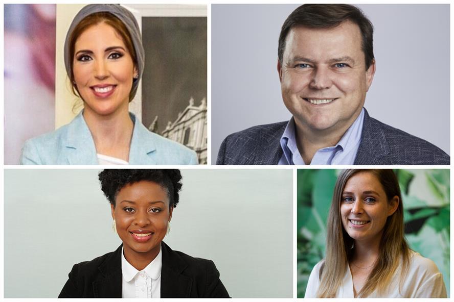 Top speakers (clockwise from top left): Noha Al Afifi, Julian Hunt, Alice Ackermann and Nana Berchie