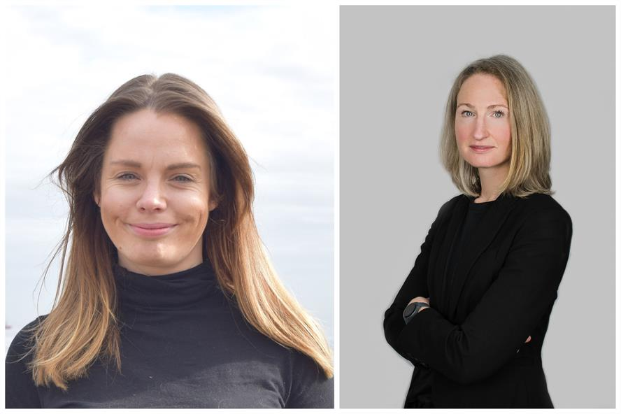 New positions: Natalie Coupar (left) and Jenny Stanning