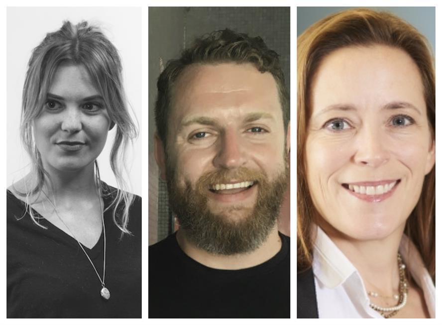 Top speakers (L-R): Ottilie Ratcliffe (The Romans), Kev O'Sullivan (FleishmanHillard Fishburn) and Tanya Ridd (Snap Inc)