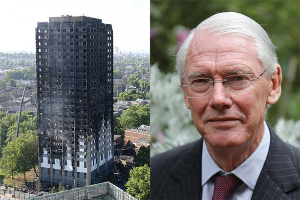 The aftermath of the Grenfell Tower disaster and Sir Martin Moore-Bick, leading the inquiry (© Rick Findler/Philip Toscano/PA Wire/PA Image)