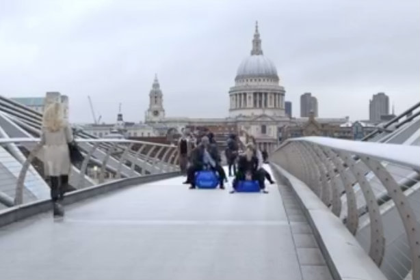 Commuters were themselves left a little Confused.com by The 10 Group's video stunt