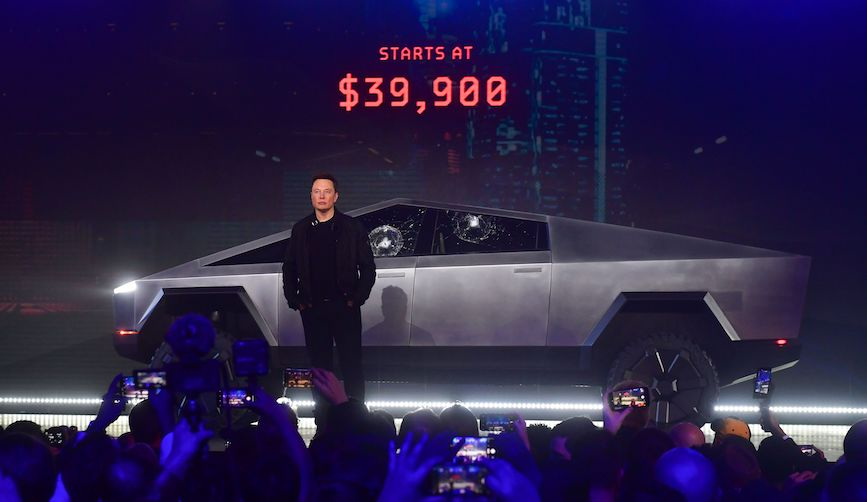Elon Musk's reveal of the Cybertruck didn't go as planned. (Photo credit: Getty Images)
