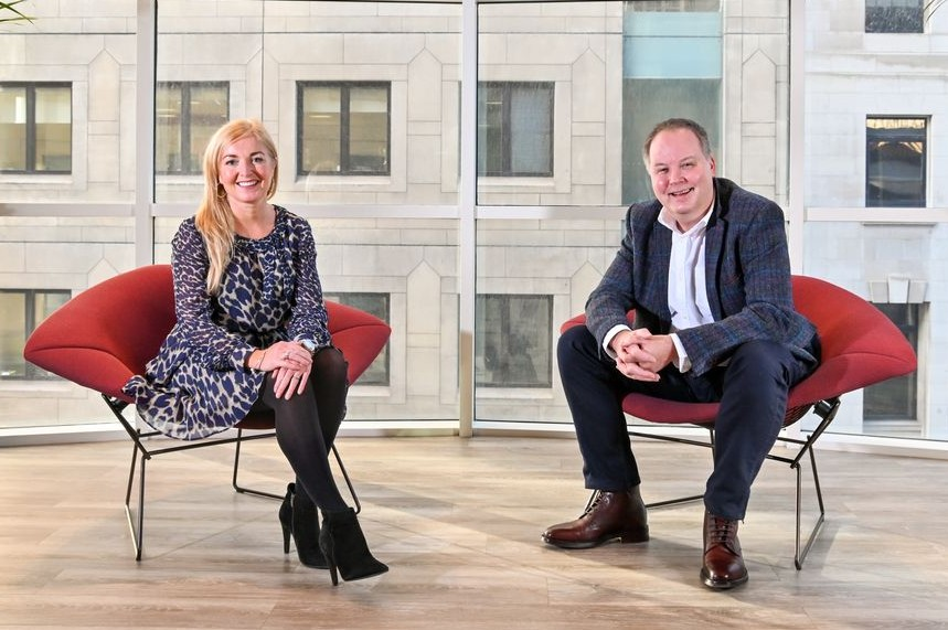 New colleagues: Definition MD Louise Vaughan and Andy Holt, her counterpart at Words&Pictures