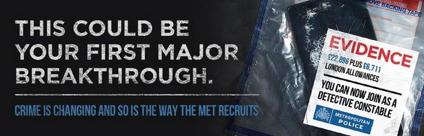 The Met is running a targeted recruitment campaign to recruit detectives with no prior policing experience