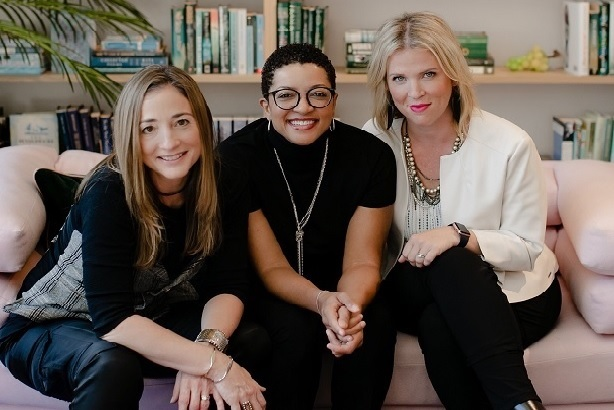 L-R: Consultancy cofounders Caroline Dettman, Pamela Culpepper and Erin Gallagher