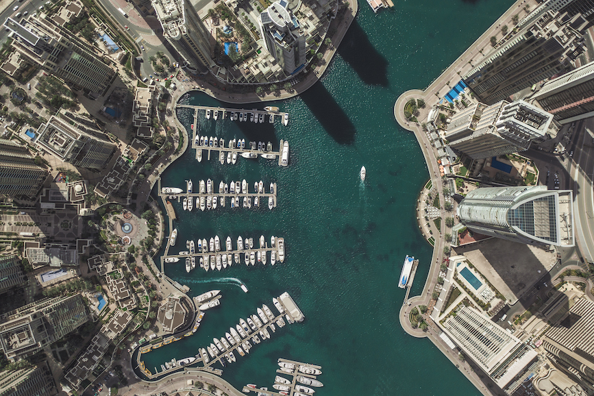 Dubai's city marina. (Photo credit: Getty Images)