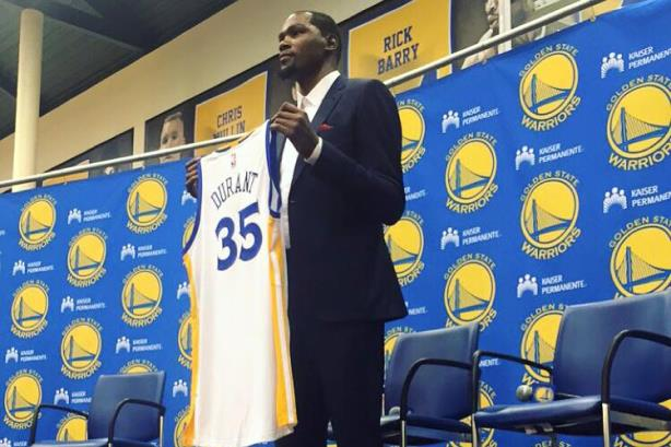 Kevin Durant left the Oklahoma City Thunder for the Golden State Warriors, and announced the move on The Players' Tribune
