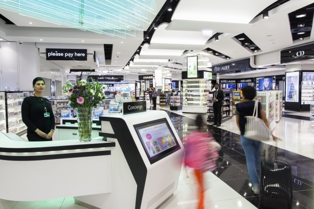 World Duty Free: Sells products including beauty and liquour