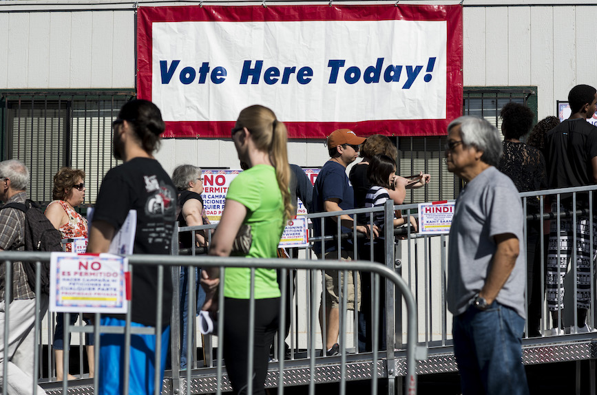 Early voting lines in Nevada. (Photo credit: Getty Images)