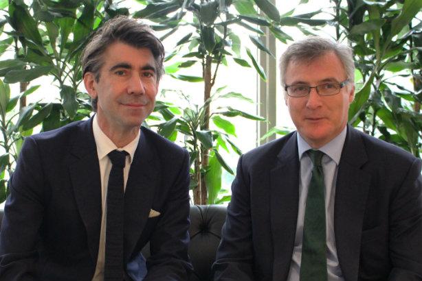 Integration moves from 'PowerPoint pipe dream to reality' - Edelman EMEA boss ED Williams (left) and Smithfield co-founder John Kiely