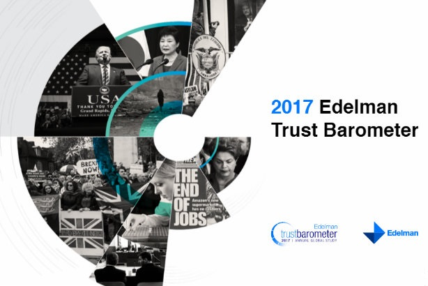 Edelman's Trust Barometer reveals trust in institutions is in freefall