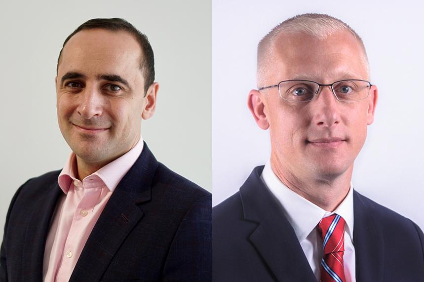 Expanded roles: Omar Qirem (left) and Jordan Rittenberry