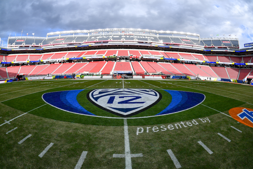 Some college football conferences will have empty stadiums this fall, while others will play on. It's a chaotic situation for sports marketers. (Photo credit: Getty Images)