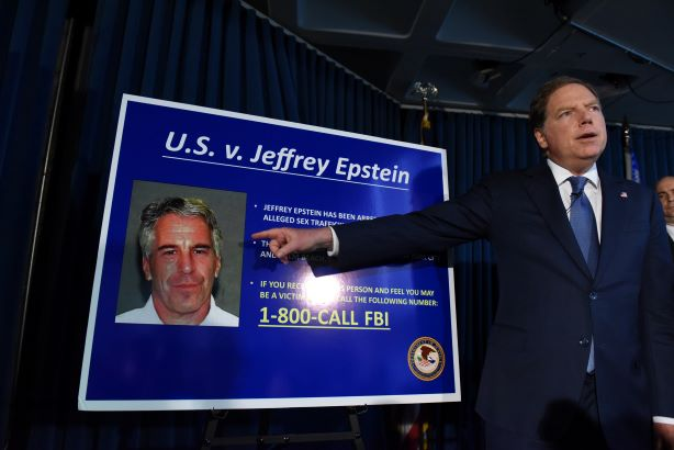 US Attorney Geoffrey Berman announces charges against Jeffery Epstein (Photo credit: Getty images)