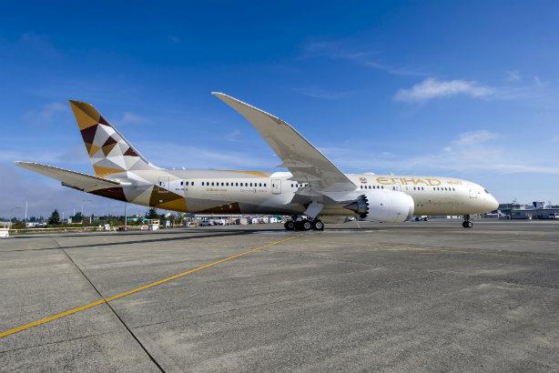 A Boeing 787 flown by Etihad