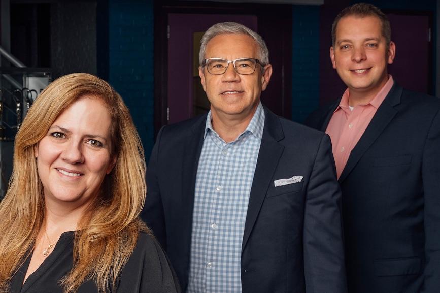 Caption: (Left to right) Sandra Fathi, Greg Matusky and Joe Anthony.