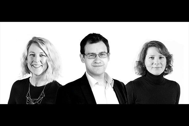Movers: Bailey (left) has been promoted by FleishmanHillard Fishburn, with Hartt (centre) joining and Di Leo (right) departing