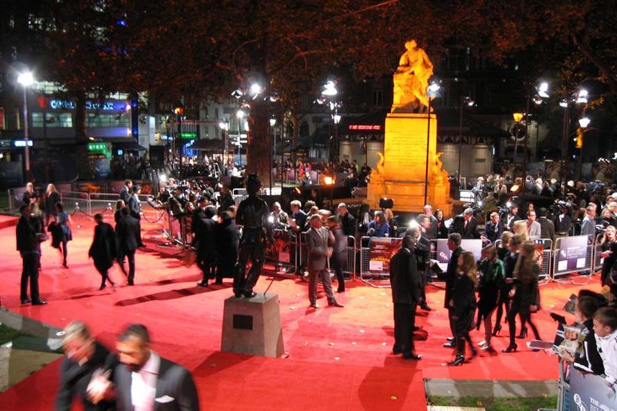 2011 London Film Festival red carpet, Leicester Square (Credit: spiritquest on Flickr)