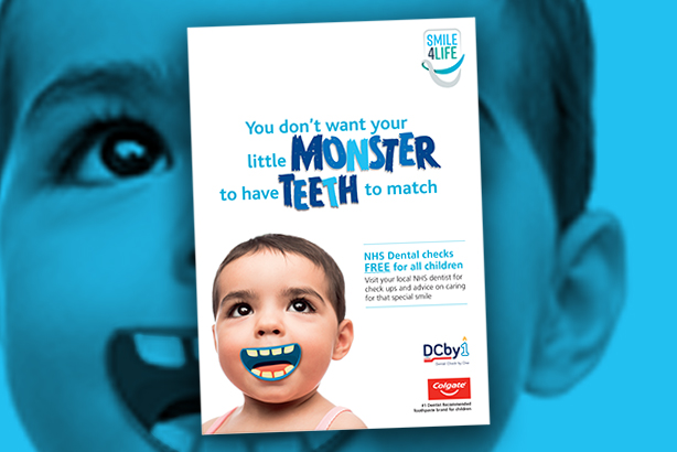 Materials such as this poster failed to arrive in time for the launch of the oral health campaign