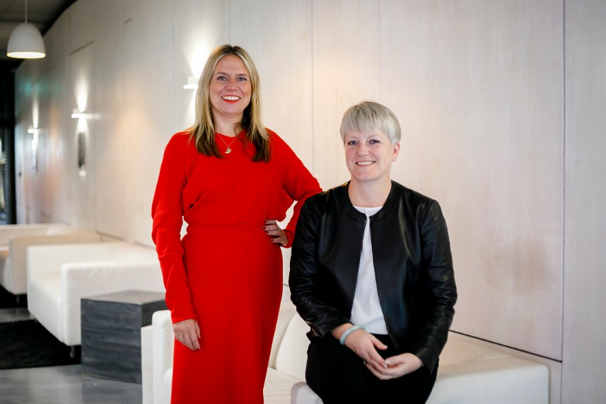 ZPR founder Zaria Pinchbeck (left) and Finn's Chantal Bowman-Boyles