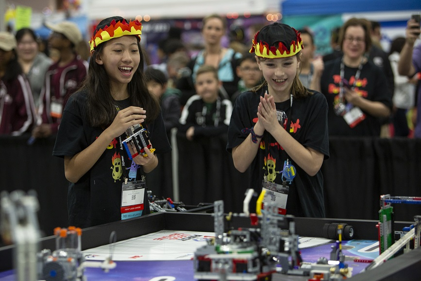 FIRST students compete at the FIRST Championship event  (Photo credit: FIRST)