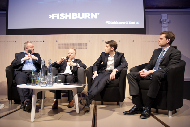 (Left to right) Damian McBride, Jim Pickard, George Eaton and Matthew Goodwin
