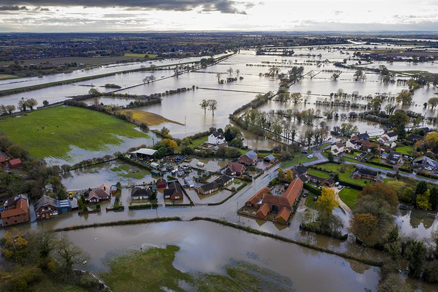 Flood water across Fishlake, Doncaster, last month (Pic credit: Christopher Furlong/Getty Images)