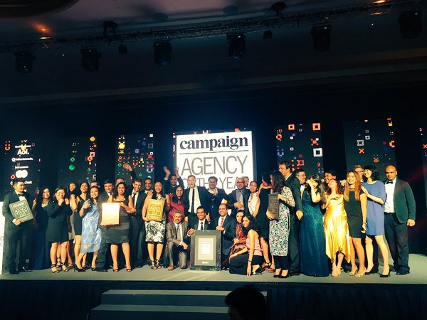 Winners at the Campaign Asia-Pacific Agency of the Year awards