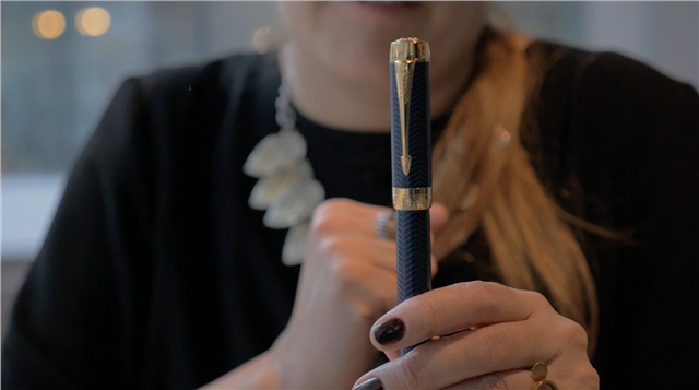 The iconic Parker pen. The 127-year-old company is rebranding to stay relevant