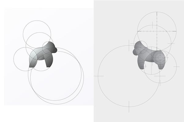 Left: Work by Tom Anders Watkins; Right: Dentsu Utama's 'Cross River Gorilla'