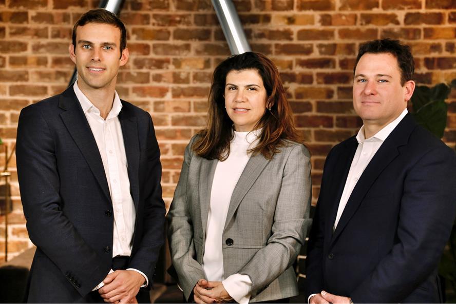 Founders: (left to right) Michael Baker, Serra Balls and Nigel Fairbrass