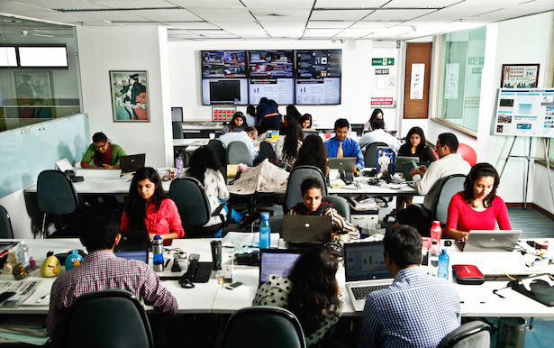 The GBM Live newsroom in Gurgaon