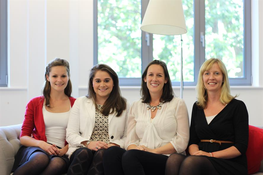 Promotions and appointments: (l to r) Carly Johns, Laura Starr, Claire Martin, Helen Khan