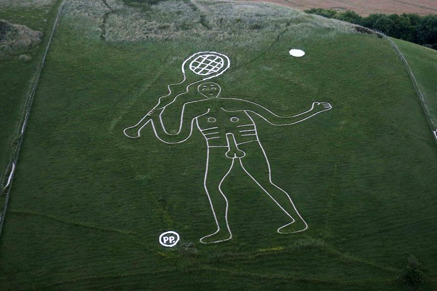 New balls please: Paddy Power gives Cerne Abbas Giant a makeover