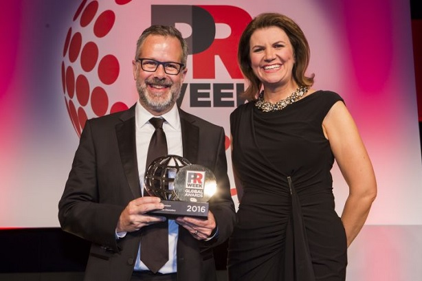 Weber Shandwick won the Global Agency of the Year accolade in 2016