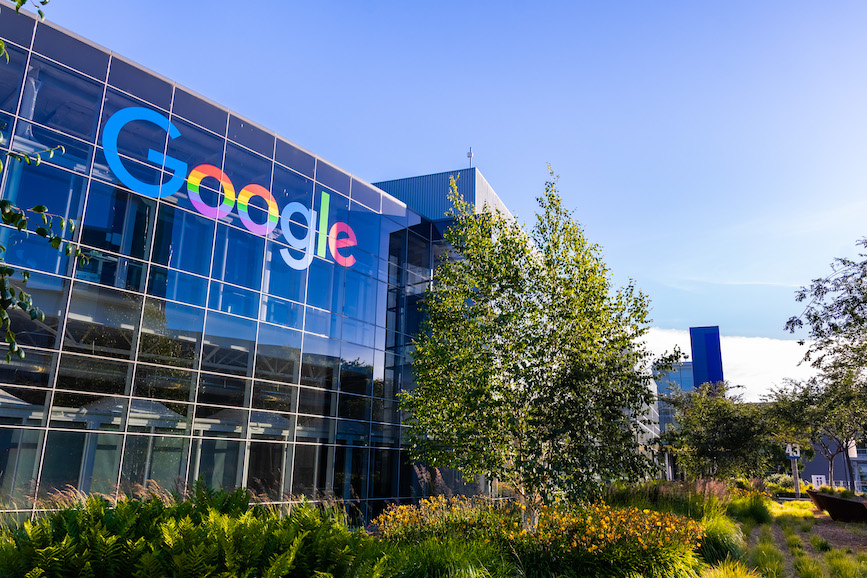 Google global headquarters in Mountain View, California. (Photo credit: Getty Images).
