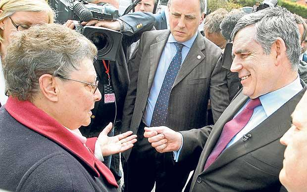 Regrettable remark: Gordon Brown met his match with Mrs Duffy