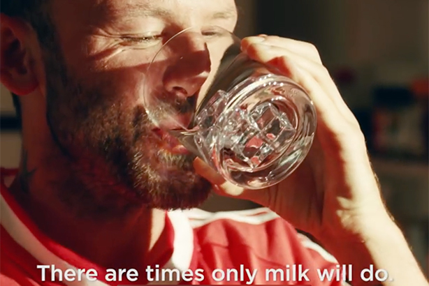 The original actors' tastes turn from milk to vodka in The Romans' parody