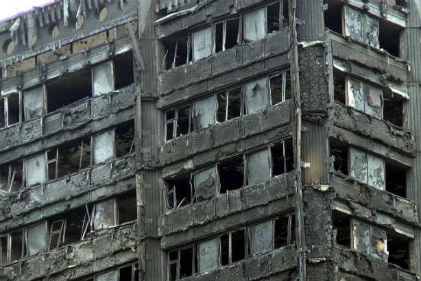 Grenfell Tower: fire damage at the Kensington housing block