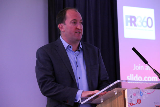 Harri chairing PRWeek's PR360 event earlier this year