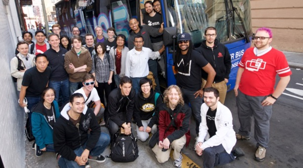 Thirty-five game developers rode the hackathon bus to the Game Developers Conference